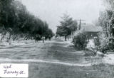 Early photograph of West Ramsey Street in Banning, California