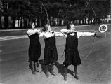 Photograph of women archers at Mills College