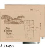 [New Cordova Homes, El Nido, plan 20 floor plan and exterior renderings brochure].