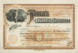World's Columbian Exposition Share certificate.