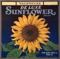 De Luxe Sunflower label