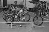 Motorcycles on display at a motorcycle show