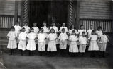 Children's Hoop Drill at Center Street School, 1890