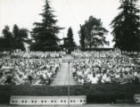 The Playhouse Bowl in Repplier Park in Banning, California, with view looking toward the audience