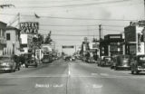 Looking east on Ramsey Street in Banning, California in the 1930s