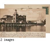 Wharf and pavilion, Venice, Cal.
