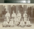 Baseball team, in front of Austin Foster Stoner's carriage store