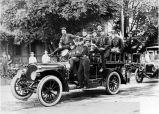 Volunteer Firemen and first motorized equipment