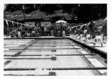 [Swim meet at the Mission Viejo Aquatics Swim Complex, circa 1970s photograph].