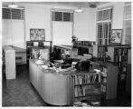 Grand Avenue Library,Children's Room - desk, 1953 [photograph]