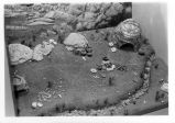 Indian village diorama exhibit at Cuyamaca Rancho State Park