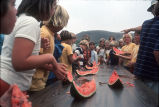 [Watermelon eating contest at Mission Viejo Days, 1976 slide].