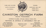 Cawston Ostrich Farm Business Card