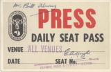 Press pass, Games of the XVI Olympiad, Melbourne
