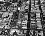 Aerial view of Inglewood, California looking north