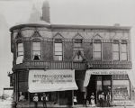 B.F. Conaway photograph of the Stern & Goodman store and Ford's Grocery