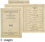 Easter Piano Recital 1921