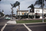 View of southeast corner of Tenth and Orange, Coronado (Calif.) c. 1955.