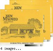 [New Madrid, Casa Dorado, plan 62 floor plan and exterior renderings brochure].