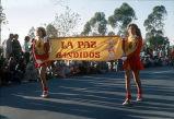 [La Paz Bandidos in Christmas Parade, 1976 slide].