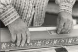 Photograph of Lou Harrison teaching