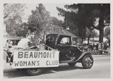 The Beaumont Women's Club Float in the Cherry Festival.