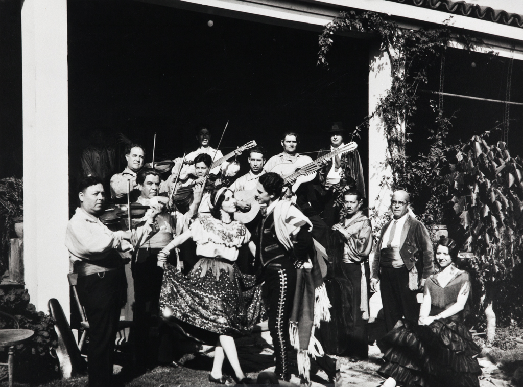 "photograph ""Fiesta in Santa Barbara"" circa early 20th centure"