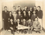 Young Filipino Men Pose for Sinait Progressive Association Group Shot