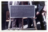 Photograph of plaque for Snack Shack.