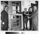 [United California Bank opening at La Paz Plaza photograph].