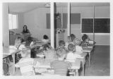 Third grade class at Park Oaks temporary school