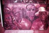 Painting: four men's faces