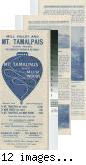 Mill Valley and Mt. Tamalpais Scenic Railway advertisement brochure