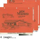 [New Madrid, Casa Roya, plan 610 floor plan and exterior renderings brochure].