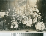 Alonzo Coffin family and friends at a picnic in Old Mill Park