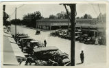Automobiles parked along East Main Street, Turlock, California, circa 1925.