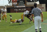 Slide of football game between the CSUH Pioneers and the SFSU Gators