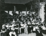 Elementary school children from Banning', California's Eastside School participating in Thanksgiving pageant