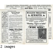 "Flyer: ""Rialto Theatre Weekly Playgoer's Newsette,"" April 1930"