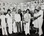Omar and Dorothy Barker with the Banning Public Library Staff in Banning, California
