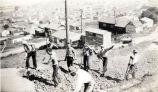 Men working on Humboldt Road