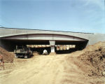 Photograph of the construction of the Melrose Avenue underpass