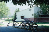 West side of foreign language and math building, 1990