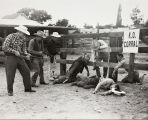 Staged shoot-out during the Stagecoach Days celebration in Banning, California
