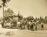 Horse-drawn parade float in Banning, California