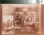 El Miradero reception hall looking into drawing room