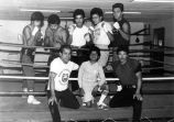 Commerce boxing competitors and trainers