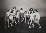 Girls playing basketball, Citrus Union High School, 1949