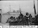 Band welcoming the fleet / Lee Passmore