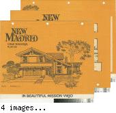 [New Madrid, Casa Naranja, plan 65 floor plan and exterior renderings brochure].